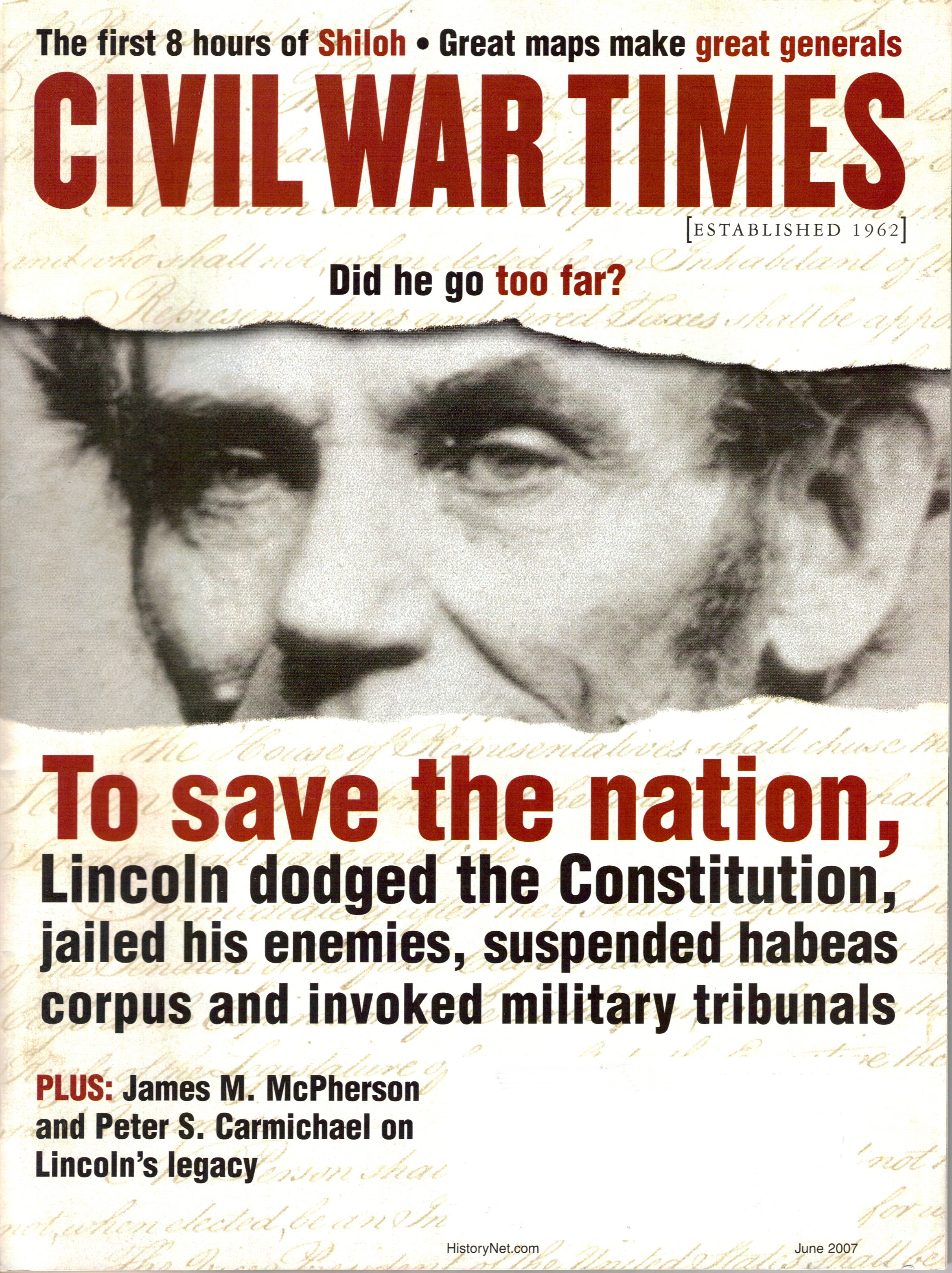 Civil War Times, Volume 46, Number 4 (June 2007)