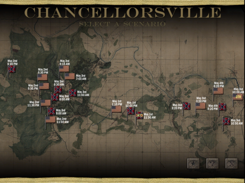 SOWChancellorsvilleScenarioSelection 500x373 Scourge of War: Chancellorsville in Images